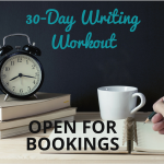 August Writing Workout bookings open
