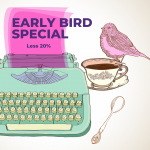 Less 20% early bird special: offer ends midnight 6 October